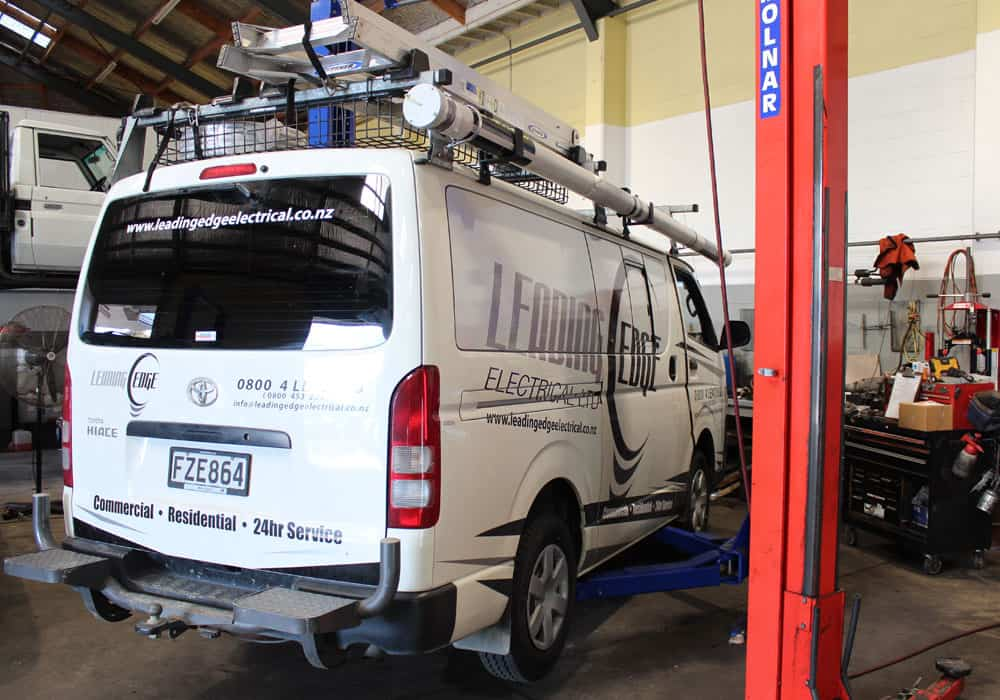 White van in mechanics for Automotive Repairs